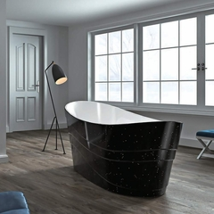 Modern Freestanding Bathtub | Black