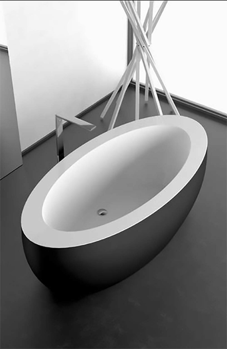 Modern Oval Bathtub | Blalck