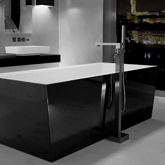 Modern Rectangular Bathtub | Black