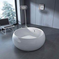 Modern Round Bathtub| White
