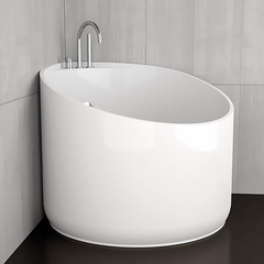 Modern Small Bathtub | White