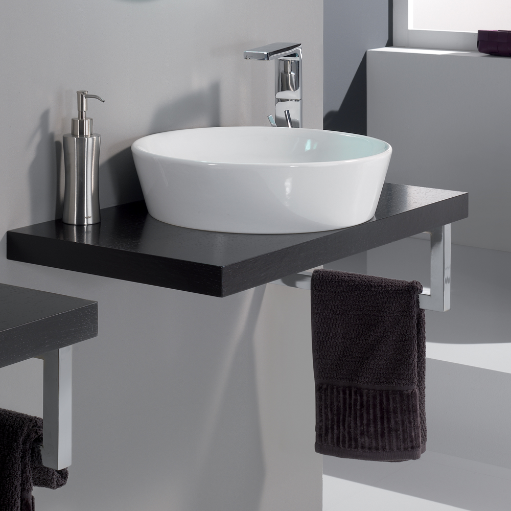 cleo  veneered wenge bathroom sink stand - modern cleo  veneered wenge bathroom sink stand