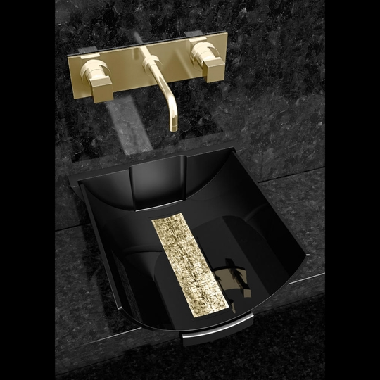 MURANO CALLA BLACK GOLD