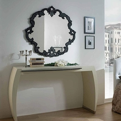 Onax Glass Handmade Luxury Italian Console Mirror
