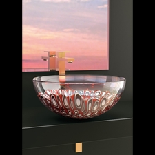 MURANO LAGUNA RED MURRINE (glass Vessel Sink)