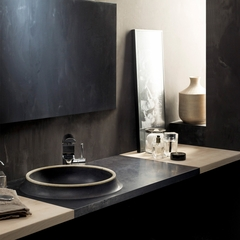 NATURAL STONE Sink VULKA | BLACK