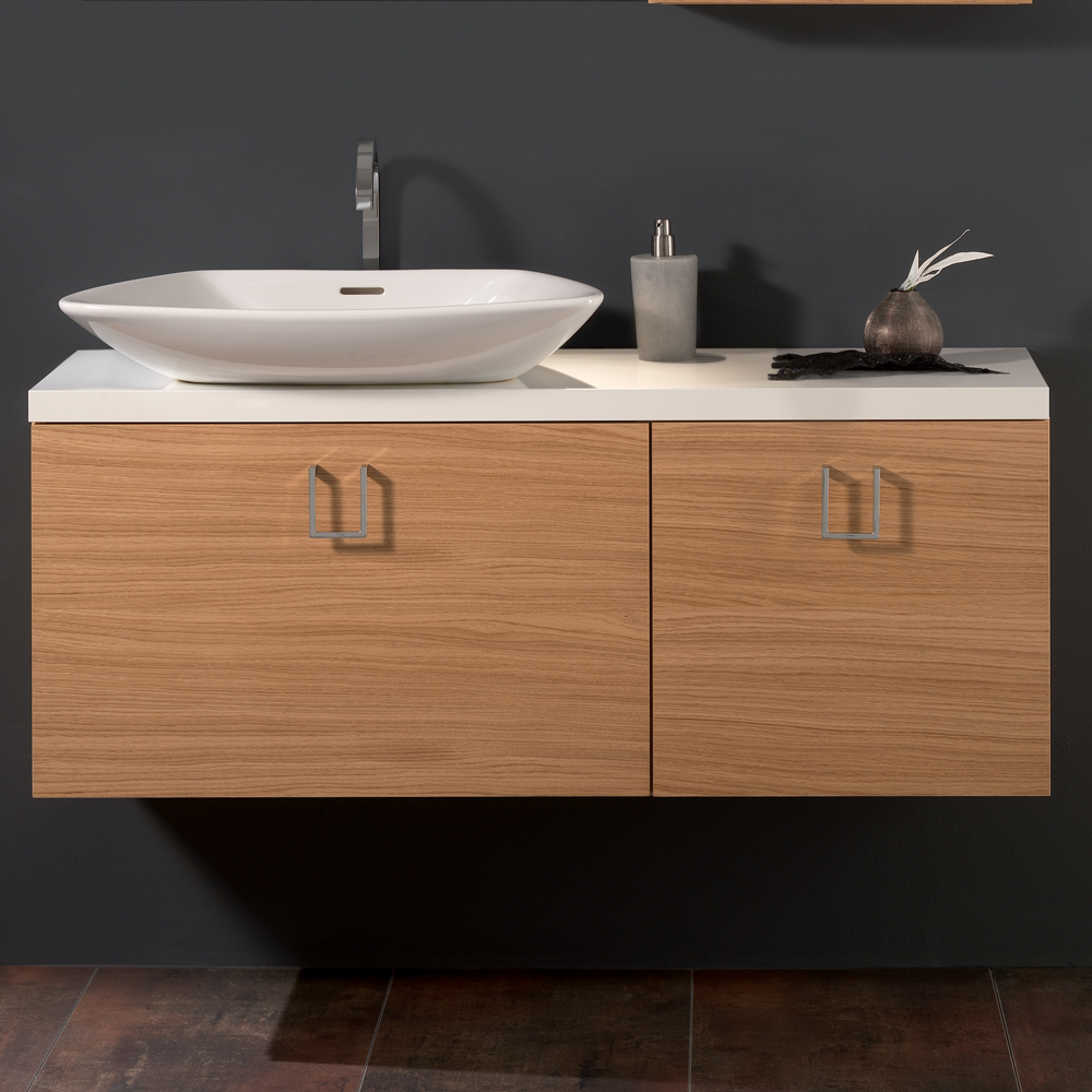 oak veneer luxurious bathroom vanity stand - Luxurious Bathroom Vanity