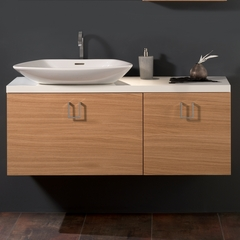 CLEO 02 Oak Veneer Luxurious Bathroom Vanity Stand