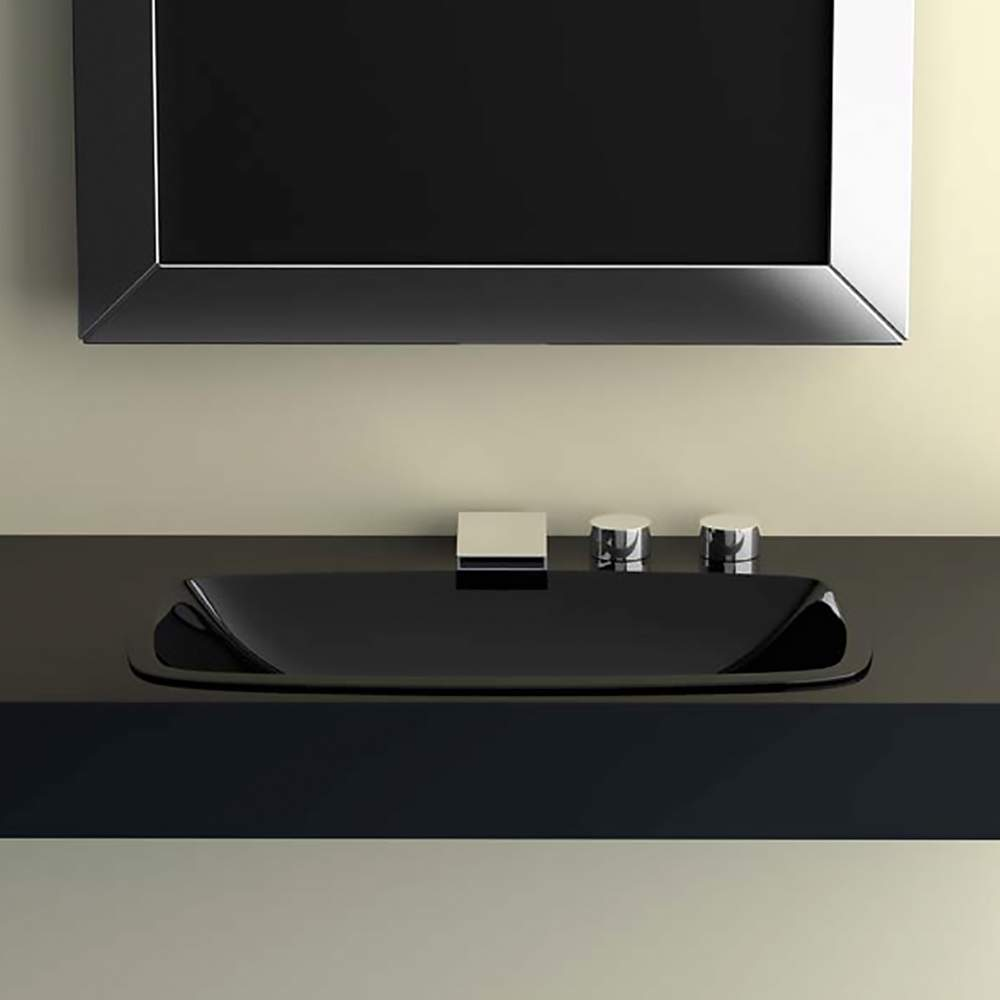 Pert Open Dropin Bath Sink Black - Black drop in bathroom sink