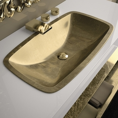 Pert Open Drop-in Bath Sink | Gold Leaf