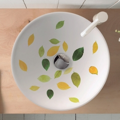 PORCELAIN AIRE II GREEN WHITE