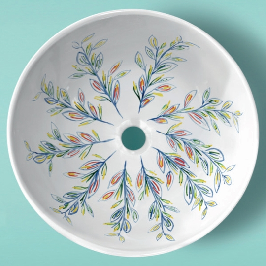 PORCELAIN FLORA II BLUE|GOLD|RED