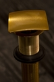 Square Fix Dome Vessel Sink Drain | Satin Gold