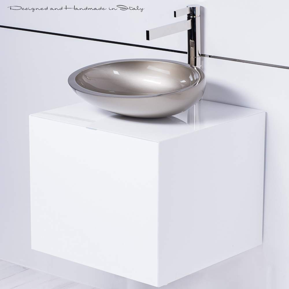 Modern small vessel sink and vanity combo for Small bathroom vanity sink combo