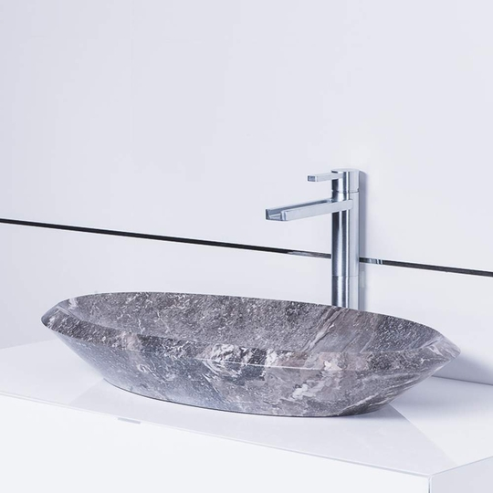 Sundari Infinity Natural Stone luxury vessel sink | Grey-Taupe
