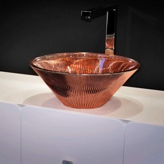 TEKNO LUX Rose Gold Vessel Sink