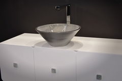 TEKNO Metal Dark Iron Vessel Sink