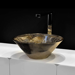 TEKNO Metal Platinum Vessel Sink