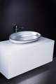 Ultra Modern 40 inch white bathroom vanity with top