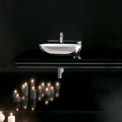 Midas Ceramic Platinum White | Ultra Modern Platinium White Vessel Sink