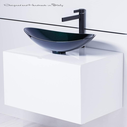 Modern Italian Black and white bathroom fixture selection