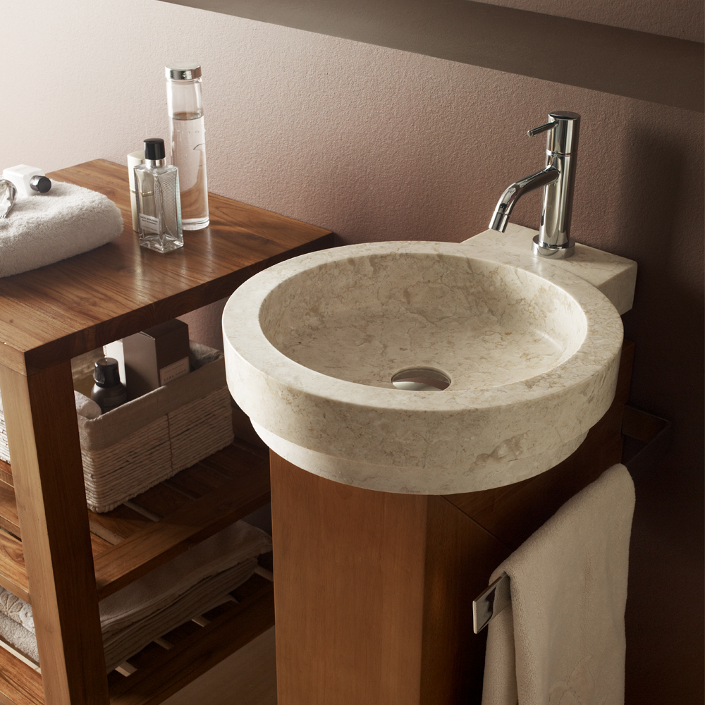 Vessel sink stone for Odd shaped kitchen sinks