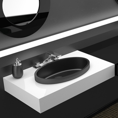 Vetrofreddo Elisse FL Drop-in Bath Sink | Black