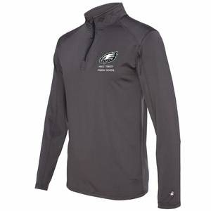 Holy Trinity Adult 1/4 zip pullover Graphite