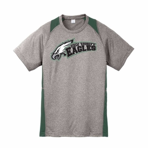 Holy Trinity Adult Colorblock Performance t-shirt Grey/Green