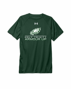Holy Trinity Armour Up UA Youth Performance t-shirt, Forest