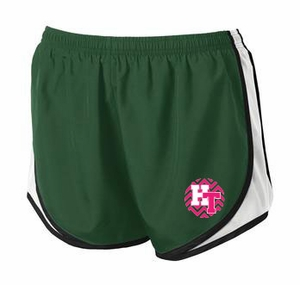 Holy Trinity Chevron Design Ladies Sport-Tek Shorts - Forest