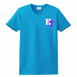 Holy Trinity Chevron Design T-shirt Aqua Blue