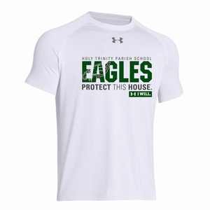Holy Trinity Eagles Protect This House Adult UA Locker Tee