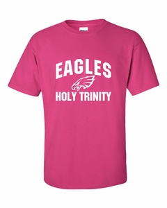 Holy Trinity Eagles Upper Arch Design Adult S/S T-Shirt - Heliconia