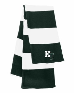 Holy Trinity Knit Scarf Green/White