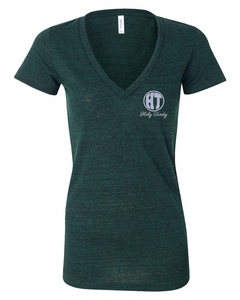 Holy Trinity Ladies V-neck T-shirt, Emerald Triblend