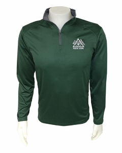 "Holy Trinity ""School Approved"" Adult 1/4 zip Performance Pullover, Forest/Graphite"