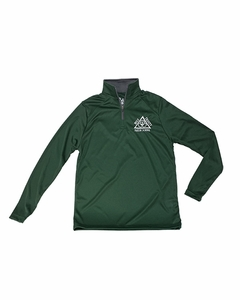 "Holy Trinity ""School Approved"" Youth 1/4 zip Performance Pullover, Forest/Graphite"