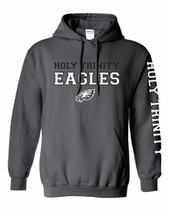 Holy Trinity Sleeve Design Hoodie - Charcoal