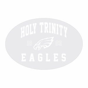 Holy Trinity Window Cling - Clear
