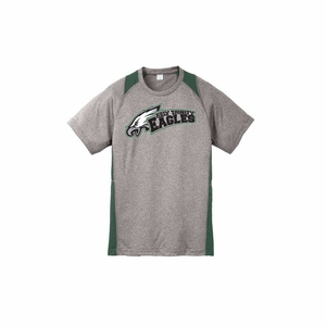 Holy Trinity Youth Colorblock Performance t-shirt Grey/Green
