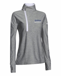 SMA Ladies UA Hot Shot 1/4 Zip Pullover, Grey/White