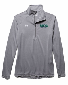 SMA Athletics Ladies' UA 14-Zip Pullover, Graphite