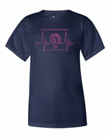 SMA Athletics Live for Volleyball Design Ladies Performance Tee Navy