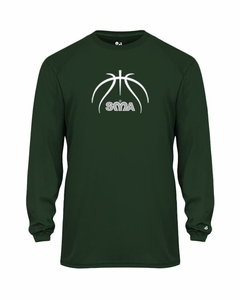 SMA Basketball Youth Performance L/S Shooting Shirt Forest