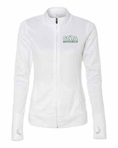 SMA Ladies Lightweight Full Zip Jacket, White
