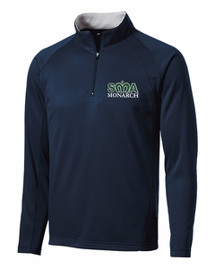 SMA Mens Performance 1/4 zip Pullover, Navy