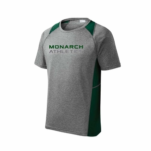 SMA Monarch Athletics Design Adult Performance Tee, Heather/Forest