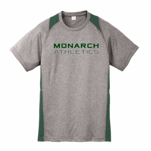 SMA Monarch Athletics Design Youth Performance Tee, Heather/Forest