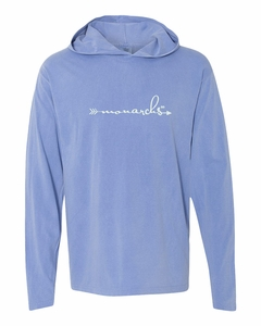 SMA Monarch Athletics Ladies' Hooded LS Tee, Flo Blue